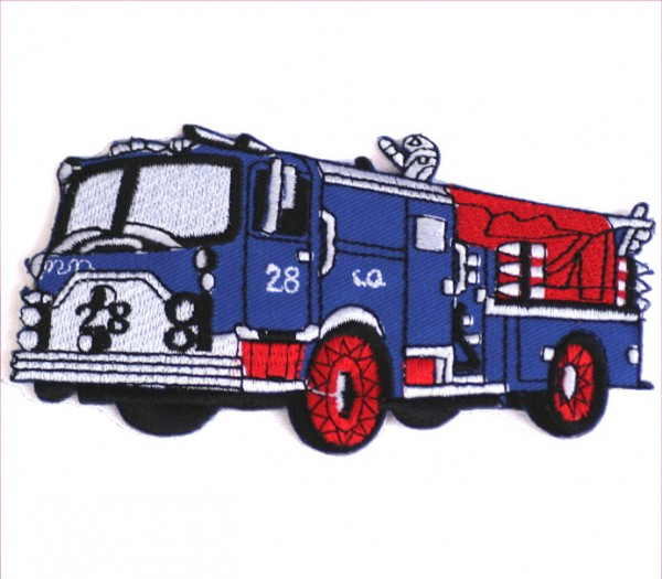 Aufnäher Feuerwehr blau, ca. 11,5x 5,5cm